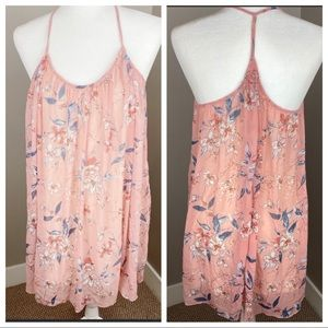 ABERCROMBIE & FITCH PINK FLORAL FLOWY DRESS